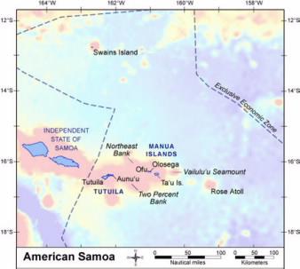 American samoa archipelago american samoa archipelago map gumiabroncs Image collections